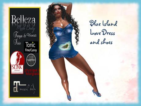 *TA* Blue Island Love dress