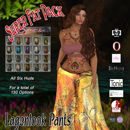 +DFF Lagenlook Pants Super Fat Pack