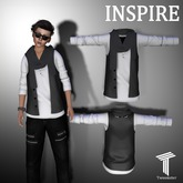 INSPIRE Leather Vest w/ Shirt and Scarf White [Tweenster]