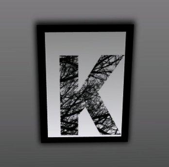 Large Letter K Wall Decor from slm-assets.secondlife.com