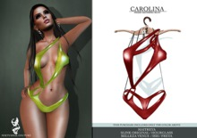 Nocturnal Couture Carolina Bathing Suit Red