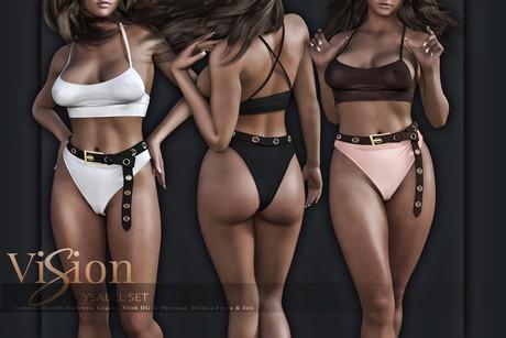 {ViSion} // Ysabel Set - FAT PACK - Maitreya, Legacy (f), Belleza Freya - Isis, Slink Hourglass - Physique