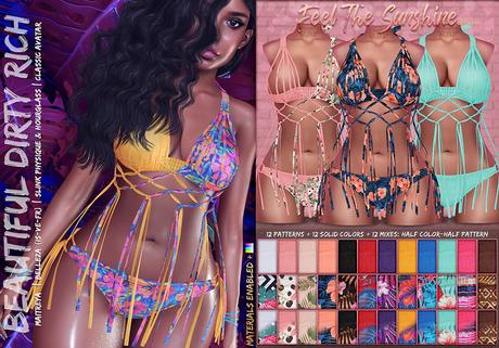 *B.D.R.* Feel The Sunshine -Bikini- (Solid & Patterns) / 36 Styles HUD.