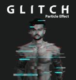 Glitch particle effect