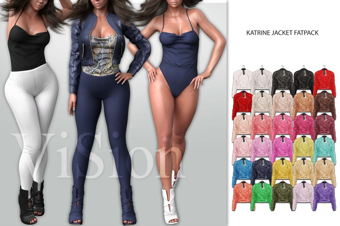 {ViSion} // Katrine Jacket - FATPACK - Maitreya, Legacy, Belleza Freya - Isis, Slink Hourglass - Physique