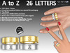 [SuXue Mesh] FATPACK Tanya Bento & Classic Unrigged Bands Engraving A to Z HUD 26 Letters Resize Female & Male 2 Boxes
