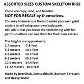 Assorted Sizes Custom Skeletal Rigs