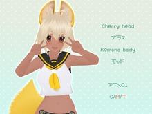 Cherry head+Kemono body mod - Anime01