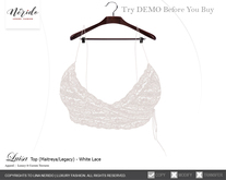 ~Nerido~ Luisa Top-White Lace