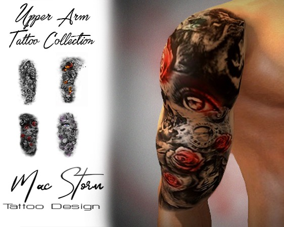 Second Life Marketplace Promo Upper Arm Tattoo Collection 1