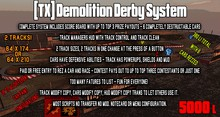 [TX] Demo Derby System - Temporarily Reduced! (Demolition Derby) Mod Copy