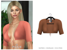 POSIE - Ayira Crop Top .CAMEL