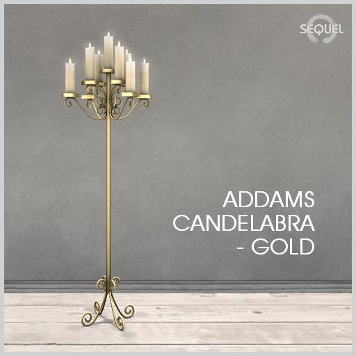 Sequel - Addams Candelabra - Gold