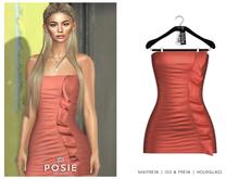 POSIE - Diana Mini Dress .CORAL