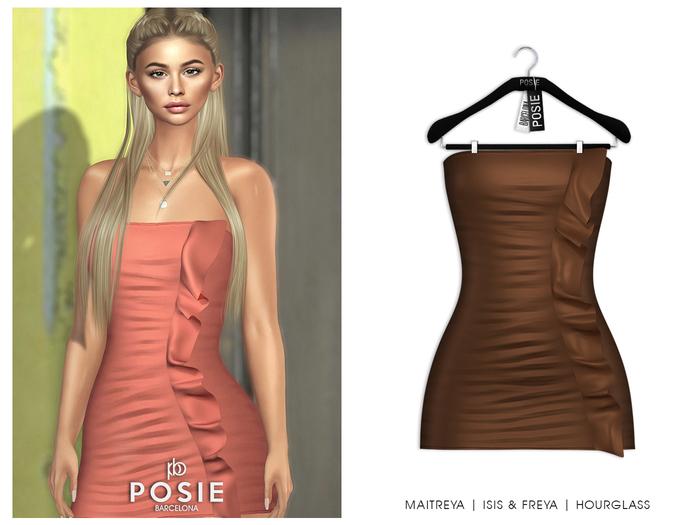 POSIE - Diana Mini Dress .CAMEL