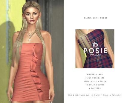 POSIE - Diana Mini Dress .FATPACK