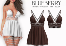 Blueberry - Cori - Lace Dress & Top - Brown