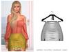 POSIE - Sasha Mini Suede Skirt .WHITE