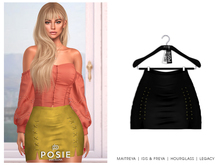 POSIE - Sasha Mini Suede Skirt .ONYX