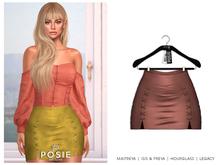 POSIE - Sasha Mini Suede Skirt .NUDE