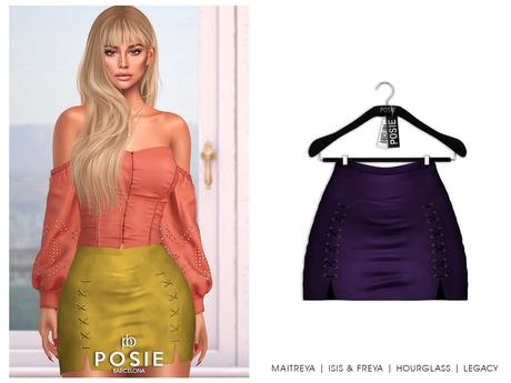 POSIE - Sasha Mini Suede Skirt .EGGPLANT