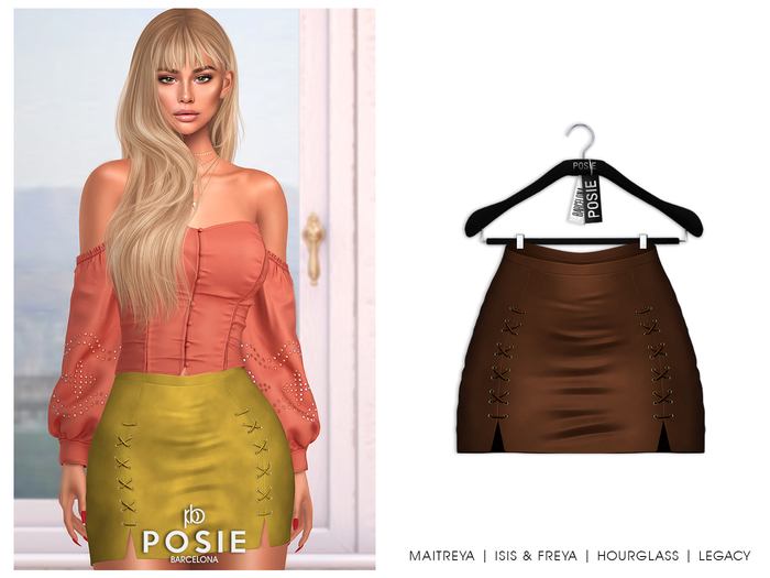 POSIE - Sasha Mini Suede Skirt .CAMEL