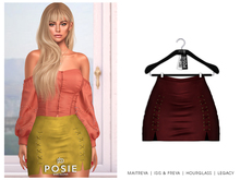 POSIE - Sasha Mini Suede Skirt .BURGUNDY