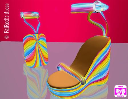 FaiRodis Happy Rainbow sandals MeshAV pack