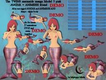 DEMO The Twins Mermaids Avatar + Animesh Model 5 pink 27 animes