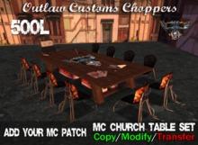 OCC Customs - MC Church Table Set Package