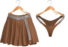 Blueberry - Stella - Skirt & Panties - Tan