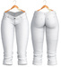 Blueberry - Natalia - Capri Jeans - White