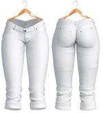 Blueberry - Natalia - Capri Jeans - White