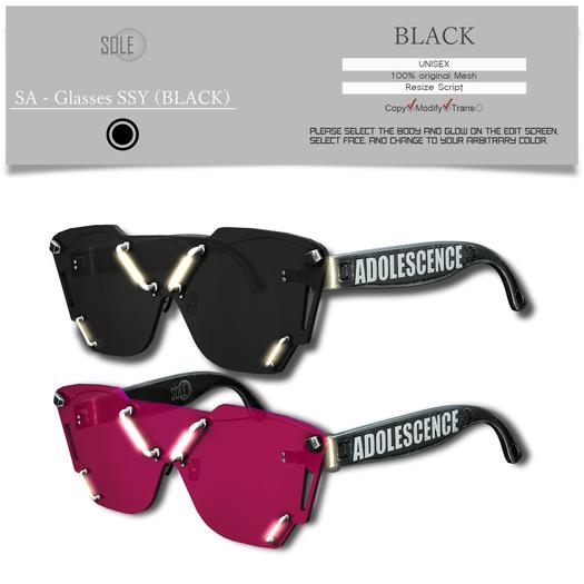 :::SOLE::: SA - Glasses SSY (BLACK)