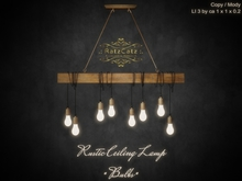 .: RatzCatz :. Rustic Ceiling Lamp *Bulbs*