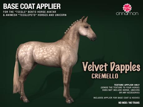 *CINNAMON* Teegle base coat_ Velvet Dapples *Crem -BOX (add me)
