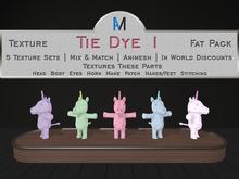 AniMates - Cupcake - Tie Dye 1 - Texture Fat Pack