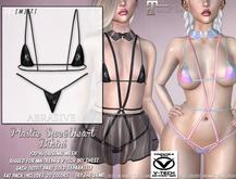 [ abrasive ] Plastic Sweetheart Bikini - Black