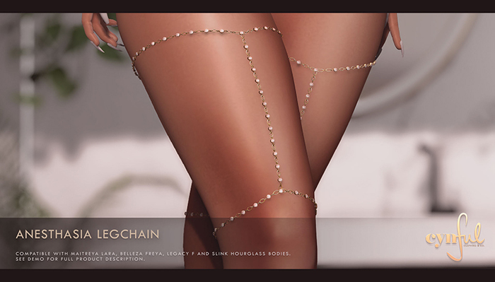 Cynful Anesthasia Legchain - Fatpack   [Maitreya Lara, Belleza Freya, Slink (HG), Legacy