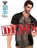 DEMO XK Vursachi Sheer Panel Buttondown Shirt