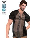 XK Vursachi Sheer Panel Buttondow n Shirt Black