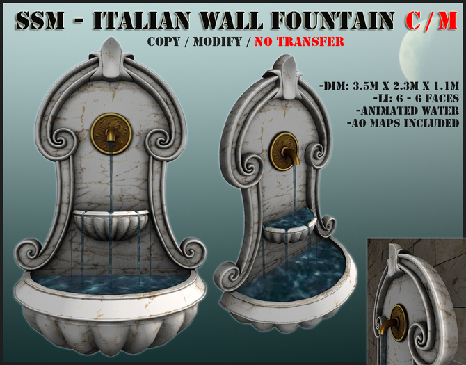 SSM - Italian Wall Fountain Copy/Mod