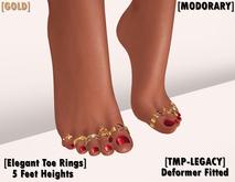 [MODORARY] Elegant Toe Rings for Legacy (Deformer) GOLD