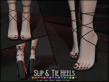 glutz . slip & tie heels