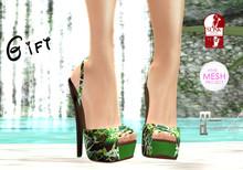.:.MS.:. Summer Heels Green Snake Gift
