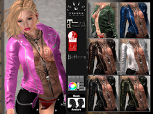 V-Twins Casual Clothes - Individual Items Mesh Jacket - Heist color Collection (Slink Belleza & Maitreya)
