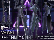 MALified - Trinity Outfit (Black): Maitreya Only