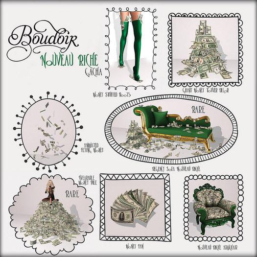 Boudoir Nouveau Riche Gacha-Animated Flying Money