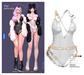 MIWAS / Star princess Bodysuit #White