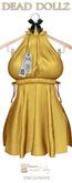 Dead Dollz - Mali Beach Robe - Yellow